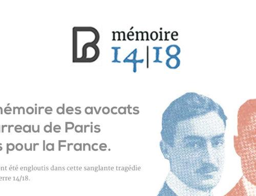 Mémoire 14-18: A la mémoire des avocats du Barreau de Paris morts pour la France.