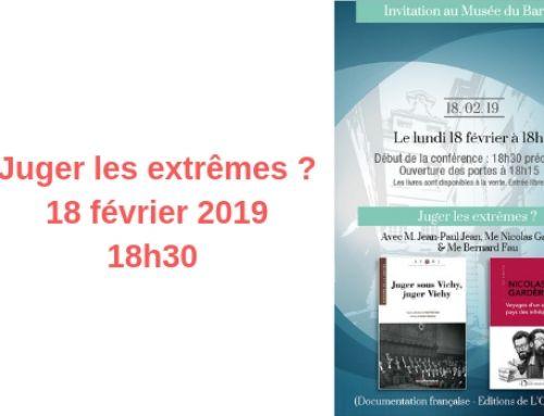 Juges les extrêmes ? – audition du 18 février 2019