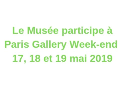 Paris Gallery Week-end – 18 et 19 mai 2019