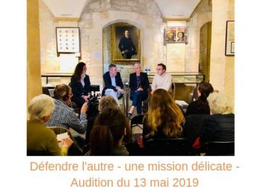 « Défendre l'autre », une mission délicate – Audition du 13 mai