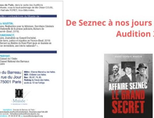 De Seznec à nos jours : une histoire de la Justice – Audition 3 février 2020