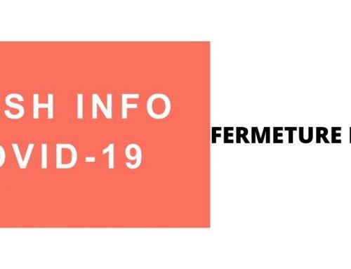 COVID-19 -FERMETURE