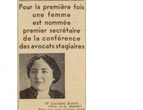 Zoom sur Lucienne Scheid-Levillion (1911-1991), première femme premier Secrétaire de la Conférence