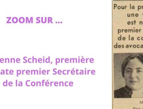 Lucienne Scheid-Levillion (1911-1991), première femme premier Secrétaire de la Conférence