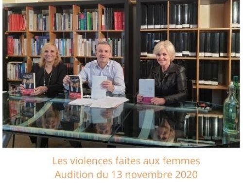 Les violences faites aux femmes-Audition du 23 novembre 2020