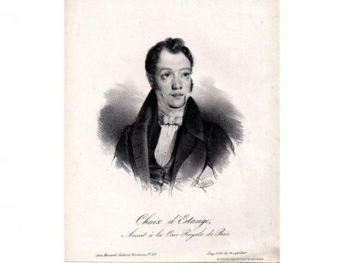 Zoom sur Me Gustave Louis Adolphe Chaix d'Estange